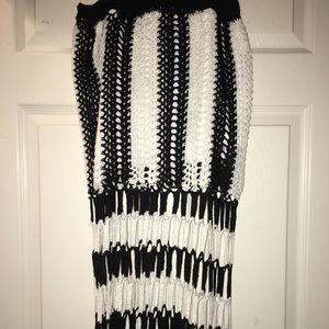 Never worn woven midi skirt